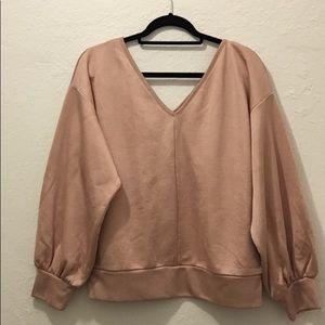 Light pink express sweater